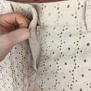 Cynthia Rowley Shorts - Cynthia Rowley Beige Cream Lace Shorts Size 6